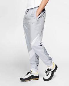 on feet shots of super cheap large discount Détails sur Nike Sportswear Homme Tissé Swoosh Pantalon L Gris Blanc  Jogging Archive Neuf