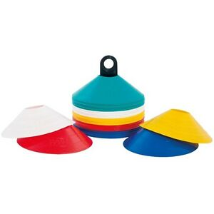 60-MARKER-DOME-CONES-WITCHES-HATS-W-STAND-CROSSFIT-GYM-TRAINING-RUGBY-FITNESS