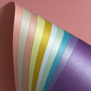 50-X-A4-Pearlescent-Shimmer-Craft-Paper-Metallic-Pearl-Sheets-Double-Sided-Craft