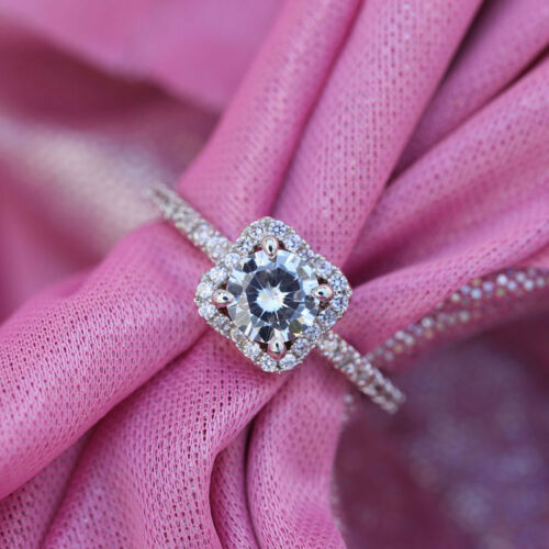 Classic Women 925 Silver Wedding Engagement Rings White Sapphire Ring Size 6-10