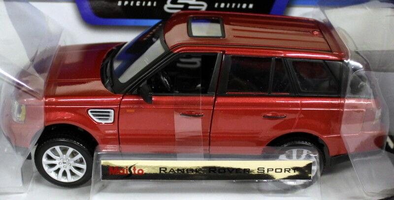 MAISTO 1 18 Scale-Range Rover Rover Rover Sport Metallic rouge Diecast Voiture Modèle cc8167