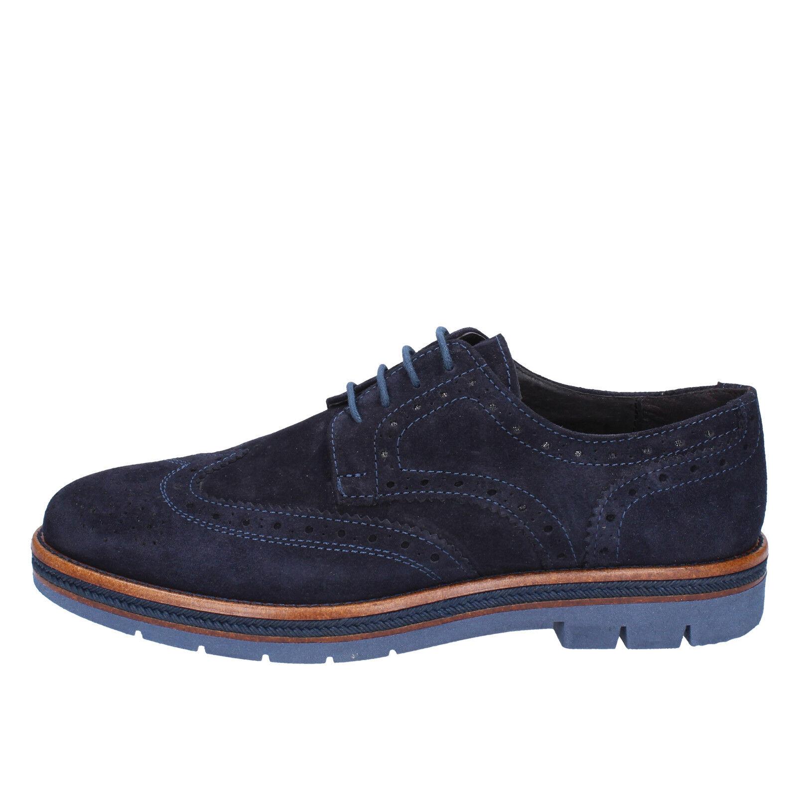 scarpe uomo classiche OSSIANI 39 EU classiche uomo blu camoscio BX307 87b37c