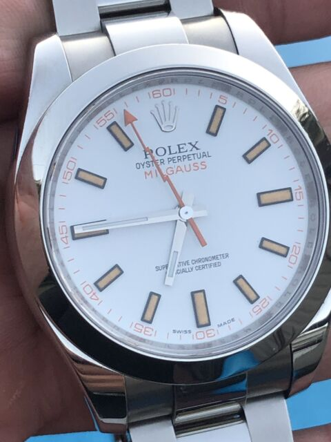 Rolex Milgauss 116400 White Wrist Watch for Men
