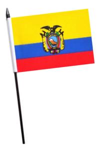 Ecuador Pequeño para Agitar con Mano Bandera
