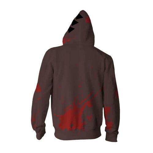 Anime Angels of Death Cosplay Costume Isaac Foster Zack Hoodie Sweatshirt Jacket