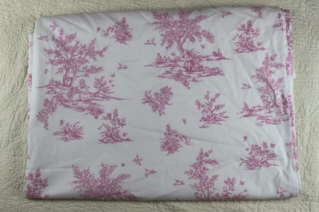 Pottery Barn Kids Pink Toile Lined Drapes Curtain Panel