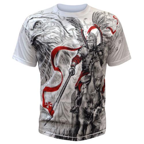 T-Shirt Koszulka Polish Poland Polen Polska Walczaca Orzeł Eagle Flag Husaria