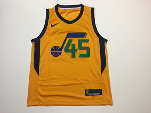 wholesale dealer 7ac7a b2471 Details about Donovan Mitchell #45 Utah Jazz Basketball Yellow Mens Jersey  - Brand New