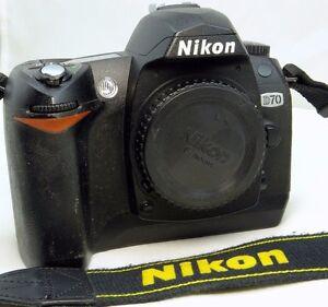 nikon d70 6mp digital slr camera body only with intermittent cha rh ebay com Nikon D70 Manual Settings Nikon D80