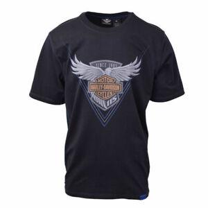 Harley-Davidson-Men-039-s-Black-Anniversary-Classic-S-S-Tee-Retail-50-S02