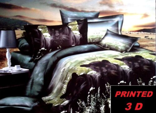 DOUBLE SINGLE 4 PCS 3D BEDDING SETS  DUVET COVER PILLOWS ANIMALS NICE FABRIC
