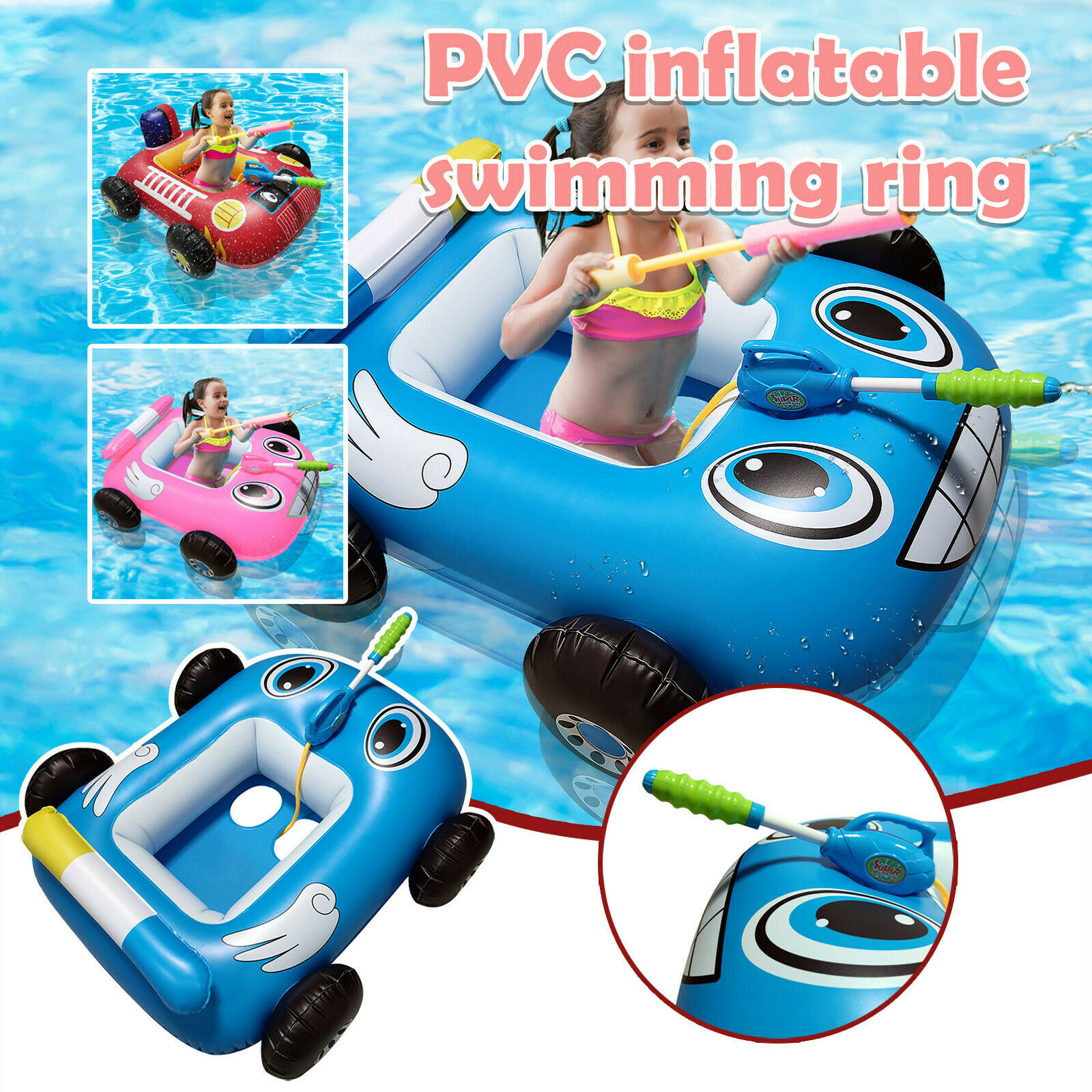 Summer Inflatable Pool For Kids Inflatable Ride-on For Children Aged 3-7 Years