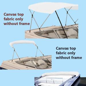 Boat Pontoon Bimini Top Fabric Canvas W//Boot 3 Bow 4 Bow