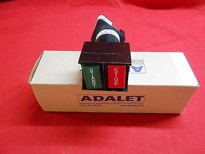 ADALET XHDPBS  EXPLOSION PROOF DUAL START//STOP NEW  with no//nc contact block