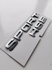 Range Rover SPORT silver Lettering  HSE for Land / Badge Logo Emblem TDV8