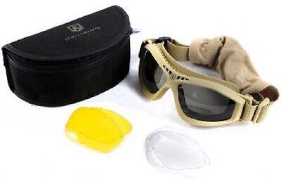 Caritatevole Us Revisione Bullet Ant Tactical Goggle Army Mtp Multicam Occhiali Occhiali Protettivi Tan-