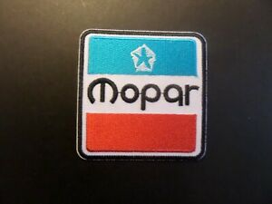Mopar Embroidered Iron On Automotive Patch