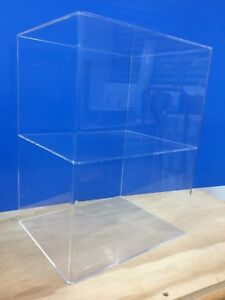 Acrylic-Lucite-Countertop-Display-ShowCase-Cabinet-12-034-x-9-5-034-x-16-034-h-1-shelve