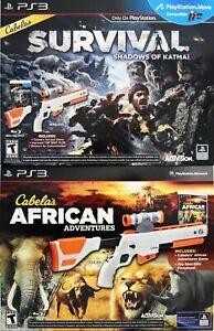 NEW PS3 Cabela's DOUBLE GUN BUNDLE Shadows of Katmai + African Adventures Games