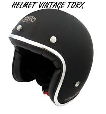 3/4 OPEN FACE VINTAGE MOTORCYCLE SCOOTER HELMET SIZE S