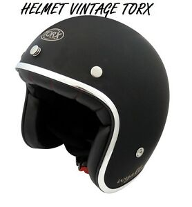 3-4-OPEN-FACE-VINTAGE-MOTORCYCLE-SCOOTER-HELMET-SIZE-M