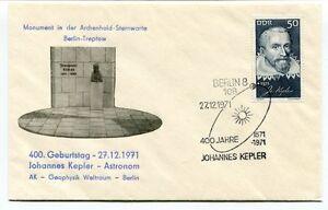 100% De Qualité 1971 Geburststag Johannes Kepler Astronom Geophysic Weltraum Berlin Treptow Nasa