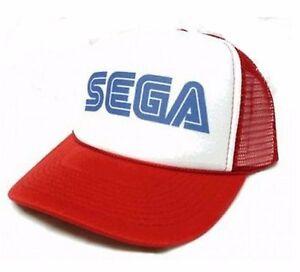 SEGA gamer hat Trucker Hat mesh hat snap back hat red Genesis Video ... 20c351fddb5