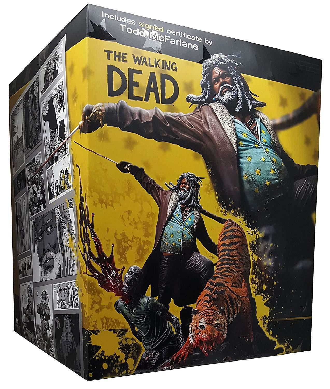The Walking Dead Comic Ezekiel and Shiva Resin Statue McFarlane Collectors Club