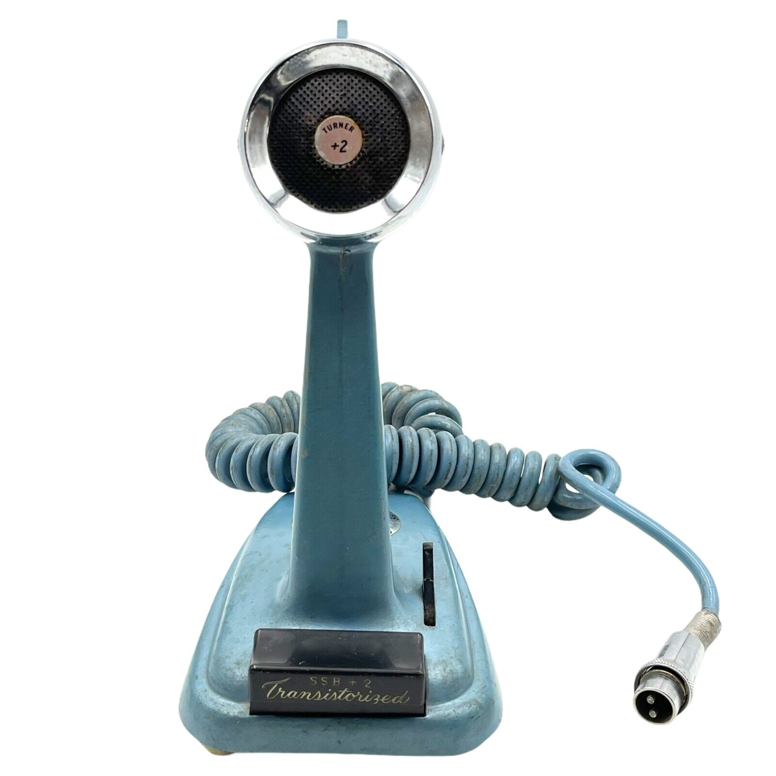 Vintage Turner +2 SSB Transistorized Blue Microphone Ham Radio Untested. Buy it now for 125.00