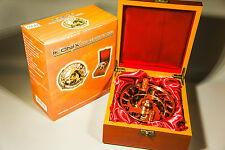 "BNIB IKONIIX 4.25"" CENTRE PIN / TROTTING REEL IN WOOD PRESENTATION BOX"