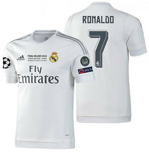 new concept e4a7f 6fb83 Details about ADIDAS CRISTIANO RONALDO REAL MADRID AUTHENTIC FINAL UCL  MATCH JERSEY 2015/16.