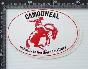 VINTAGE CAMOOWEAL QLD AUSTRALIA TOURIST TRAVEL SOUVENIR PROMO CAR STICKER DECAL