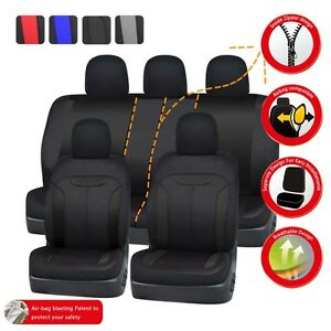 Magnificent Details About Car Pass Black Universal Fit Car Seat Covers Full Set 40 60 50 50 Split Bench Caraccident5 Cool Chair Designs And Ideas Caraccident5Info