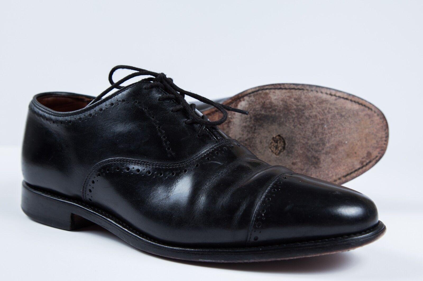 Men's Allen Edmonds Hale Black Cap Toe Oxfords Sz 8.5 EEE 3E