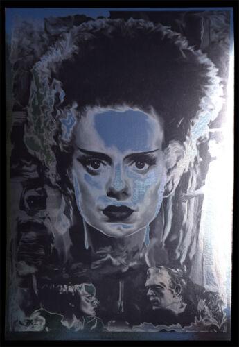 Bride of Frankenstein Elsa Lanchester Karloff rare METALLIC FOIL PRINT 11x17