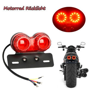 40W-MOTORRAD-ROLLER-RUCKLICHT-RUCKLEUCHTE-BREMSLICHT-amp-BLINKER-12V-E-Geprueft-Rot