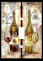 Decorative Decoupage Light Switch Covers- Delicious Wines - Made To Order