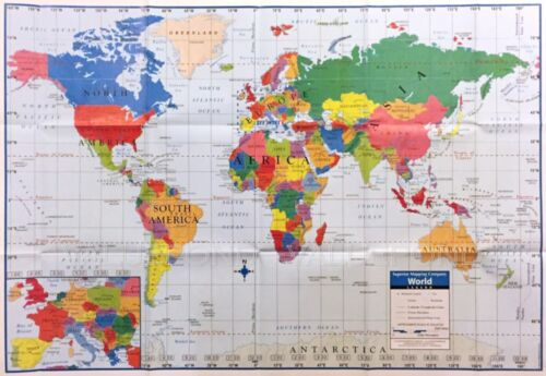 World wall map poster home school educational elementary kids fun world wall map poster home school educational elementary kids fun facts tc1 gumiabroncs Choice Image