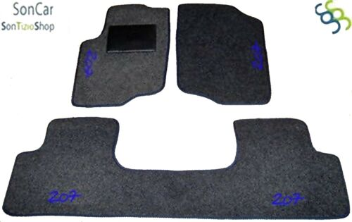 4 block PEUGEOT 207 TAPPETI tappetini AUTO 4 decori