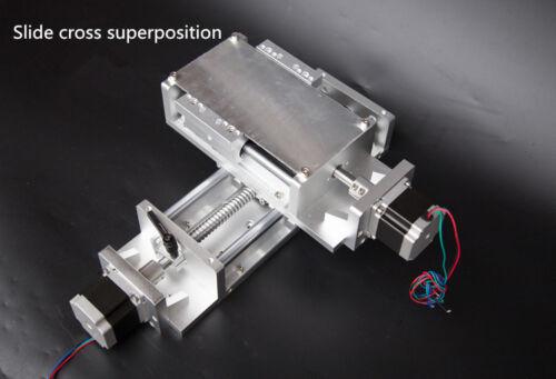 Carga Pesada módulo de carril linear Deslizante 100 ~ 1000mm SFU1605 Ballscrew Mesa de fresado