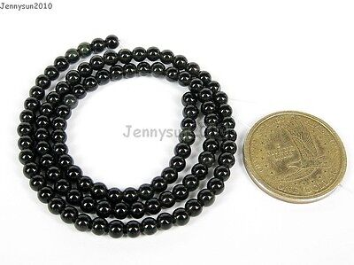Natural Obsidian Gemstone Round Beads 16'' 2mm 4mm 5mm 6mm 8mm 10mm 12mm 14mm