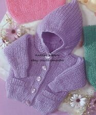 "Childrens//Babies DK Knitting Pattern cardigan sizes 16-26/"" chest  0-6 years 107"