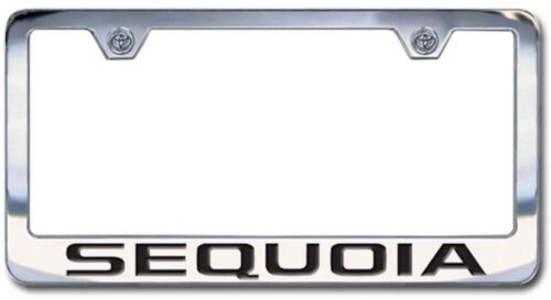 Chrome Engraved Toyota Sequoia License Plate Frame with Block Lettering