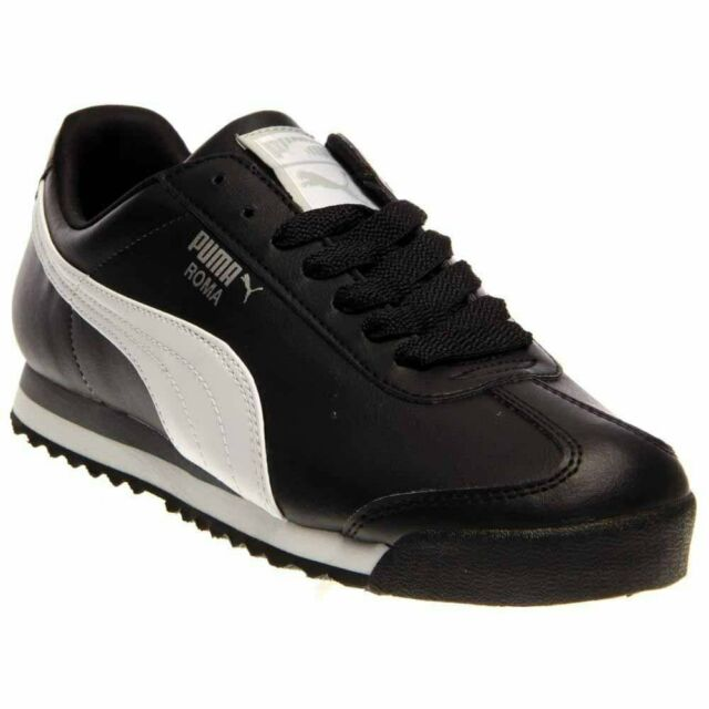 PUMA Roma Basic 35357211 Black White Classic SNEAKERS Shoes Men 10.5