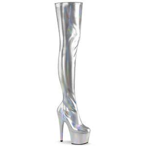 Pleaser-ADORE-3000HWR-Disco-Costume-Silver-Hologram-Platforms-Thigh-High-Boots
