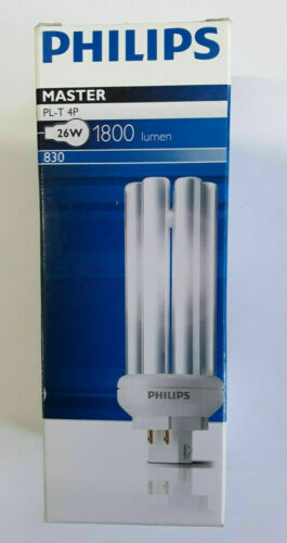 Philips Master PL-T 4P 26W Kompaktleuchtstofflamep GX24Q-3 830 DIM Warmweiß
