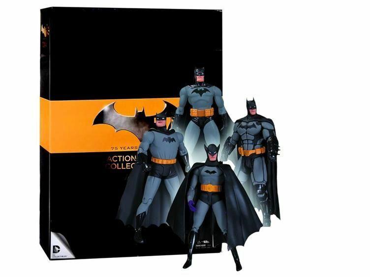 Batman Conjunto de 1 figuras de acción 75th Anniversary paquete de 4-Nuevo Auténtico