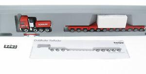 Herpa - MB Actros 4157 Goldhofer Schwerlastzug - SCHOLPP + Notizblock 1:87 LKW