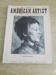 American Artist Magazine September 1951 Drawing By Gari Melchers Ebay