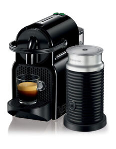 Nespresso by Delonghi Inissia & Milk Capsule Coffee Maker Black EN80BAE